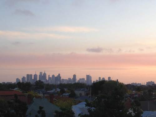 CBD as seen from Northcote at dusk